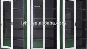 Sliding Door Dvd Cabinet New Dvd Cd Media Storage Wall Cabinet Glass Doors Wood Finish