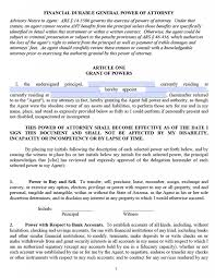Free Printable Financial Power Of Attorney Forms by Free Durable Power Of Attorney Arizona Form U2013 Pdf