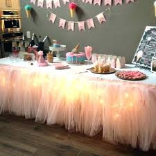 how to use tulle to decorate a table table decorating with tulle birthday table decorations table