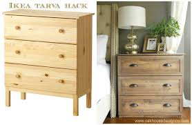 Ikea Legs Hack by The New Nightstands An Ikea Tarva Hack Oak House Design Co