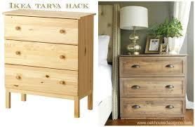 Unfinished Pine Nightstand The New Nightstands An Ikea Tarva Hack Oak House Design Co