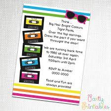 80 u0027s retro party invitation rubik u0027s cube stuck in the 80s