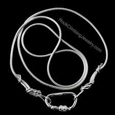 rock chain necklace images Sterling silver climbing rope chain necklace rock climbing jewelry jpg