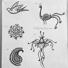 free henna designs page with a peacock henna design bird henna