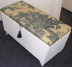 Trunk Ottoman Vintage Loom Wicker Ottoman Storage Blanket Box Chest Trunk