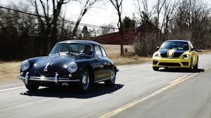 volkswagen porsche 1964 porsche 356 vs 2014 volkswagen beetle gsr then vs now