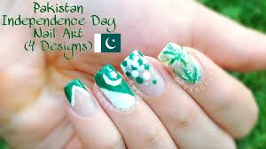 pakistan independence day nail art 4 designs youtube