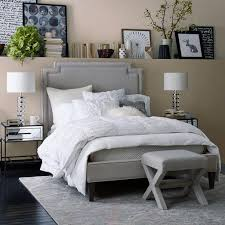 grey bed upholstered grey bed