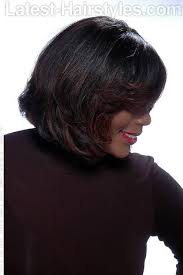 pic of black women side swept bangs and bun hairstyle 16 side swept hairstyles for black women with class