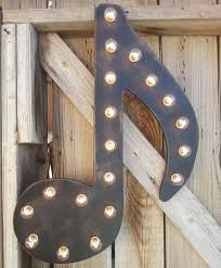 music note home decor 24 giant music note lighted marquee wood home decor music notes