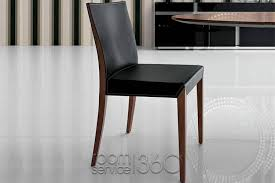 Italian Leather Dining Chairs Dolce Black Leather Dining Chair Modern Italian Designer Chairs