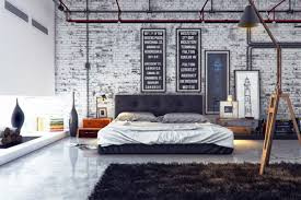 image of industrial decorating ideas for walls industrial bedroom