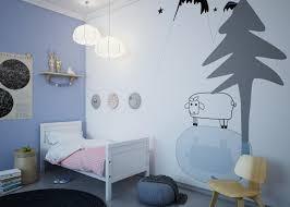 stickers mouton chambre bébé déco chambre enfant avec papier peint et sticker mural