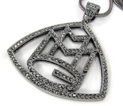 ebay necklace images Iced mmg maybach music group rick ross wale meek mill pendant JPG