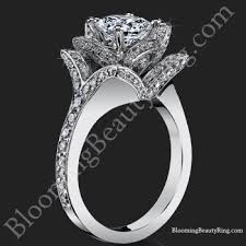 engagement rings flower design unique engagement rings for by blooming jewelry