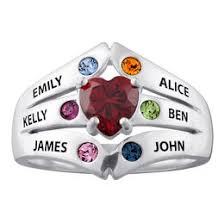 mothers ring 6 stones mothers and family rings rings zales