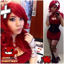 Red Hair Girl Meme - super meat girl ii cosplay know your meme