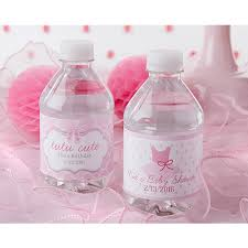tutu themed baby shower personalized water bottle labels tutu baby shower favors