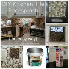 Kitchen Tile Backsplash DoItYourself Artsy Chicks Rule - Diy kitchen backsplash tile