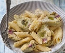 cuisiner les artichauts violets pâtes aux artichauts poivrade recette de pâtes aux artichauts
