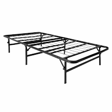 lucid foldable metal platform bed frame and mattress foundation
