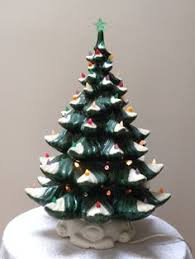 Retro Christmas Tree Toppers - christmas tree star blinking lights gold tinsel multi color bulbs