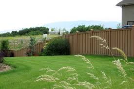 sloping a trex fence trex fencing the composite alternative to
