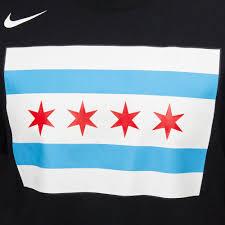 Bulls Flag Nike Nba Chicago Bulls Dry City Edition T Shirt T Shirts Tops