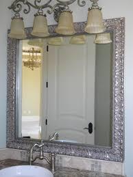 Framing Existing Bathroom Mirrors Bathroom Farmhouse Chic Unique Ideas Mirror Rustic Framing An