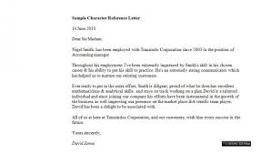 doc 750917 template for character reference letter u2013 5 samples