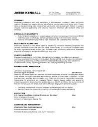 examples of marketing objectives for resume u2013 job resume example