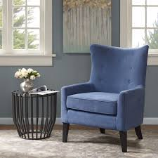 Navy Blue Leather Club Chair Chair Darby Home Co Chancey Shelter Wingback Chair Reviews Wayfair