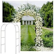 arch for wedding adorox 7 5 ft lightweight white metal arch wedding
