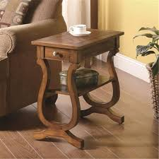 Chair Side Tables With Storage Accent Tables Warm Brown Rectangular Chairside Table Jerry S