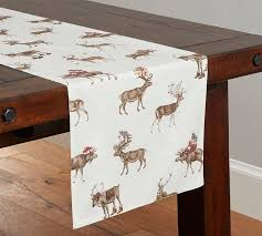 silly stag table runner pottery barn