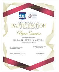participation certificate templates free u0026 premium creative template