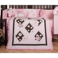 Geenny Crib Bedding Geenny Pink Brown Butterfly 13pcs Crib Bedding Set