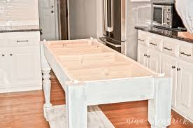 Kitchen Island Building Plans Build Your Own Diy Kitchen Island Tutorial Free Building Plans