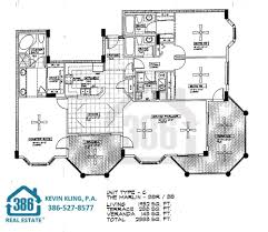 Floor Plans For Condos by Rivers Edge Floor Plans At Harbour Village Ponce Inlet Florida