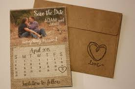 save the date calendar burlap photo magnet save the date envelopes