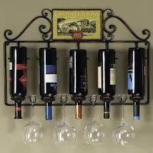 wine rack with glass holder sosfund