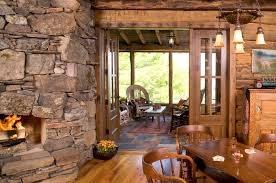 rustic stone and wood house plans