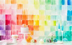 wedding backdrop diy colorful diy watercolor paper squares for your wedding backdrop