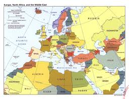 Map Of Africa Political large political map of europe north africa and the middle east