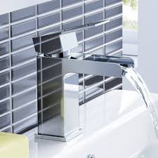 ibathuk modern waterfall bath filler mixer tap with bathroom