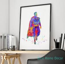 how to hang art prints without frames superman art print original watercolor superheros poster nursery