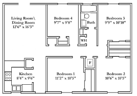 four bedroom floor plans small four bedroom house plans nrtradiant