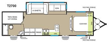 triple bunk travel trailer floor plans used 2015 forest river rv evo t2700 travel trailer at blue dog rv