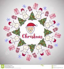 Christmas Decoration Santa Claus by Christmas Decoration Cute Santa Claus Tree And Snowman New Year
