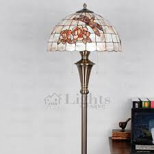 Iron Floor Lamp Shade Wrought Iron Fixture Two Light Tiffany Floor Lamps